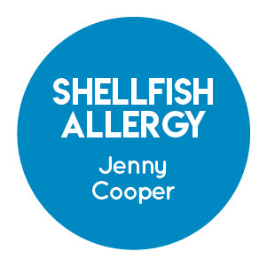 Shellfish Allergy Labels
