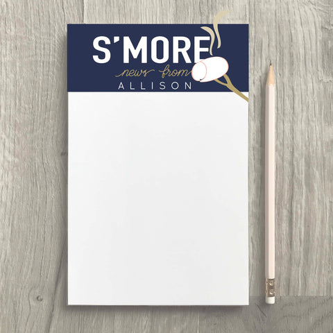 S'more News Camp Notepad