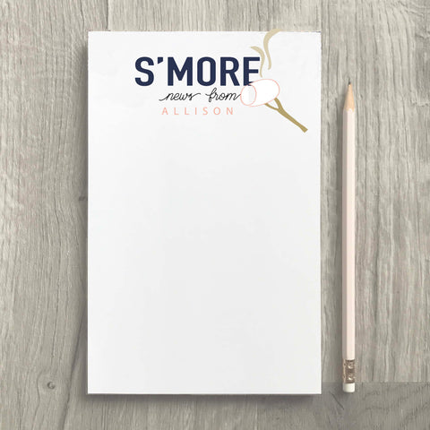 S'more News Camp Girl Notepad