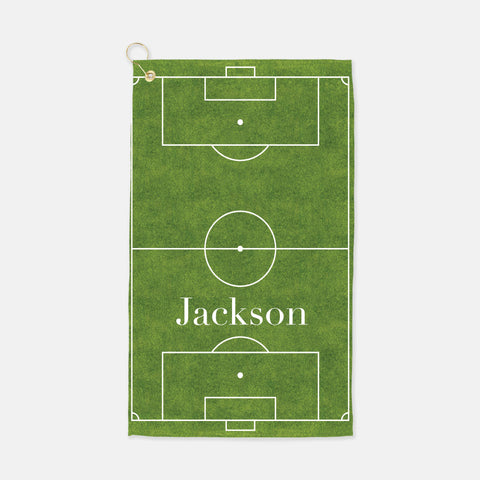 personalized soccer field towel