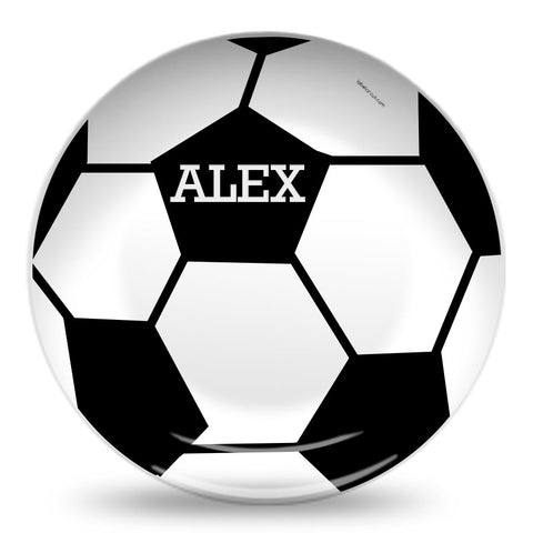 Personalized soccer ball plate