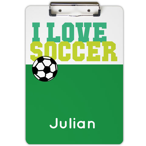 I Love Soccer Clipboard