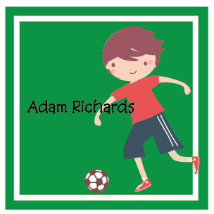 Little Soccer Player Label