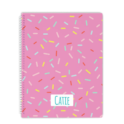 personalized sprinkles notebook for back to school