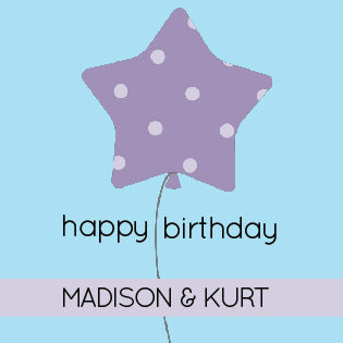 Star Balloon Gift Label