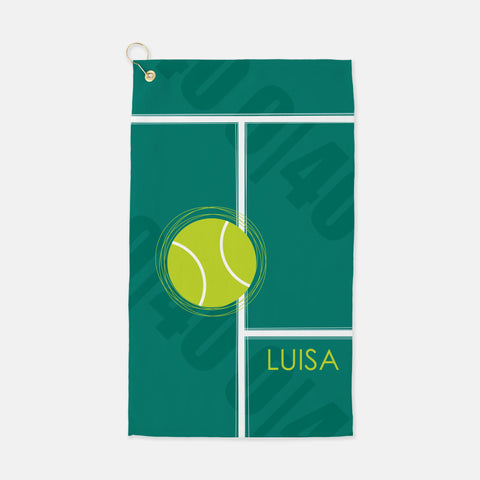 personalized tennis sports towel