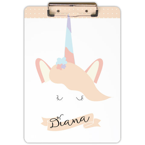 unicorn personalized clipboard