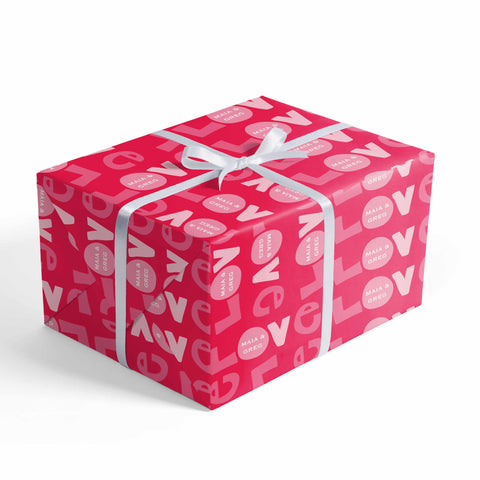 personalized love wrapping paper