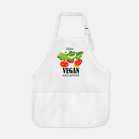 vegan and proud personalized  apron for dad