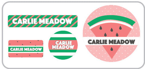 watermelon personalized clothing labels