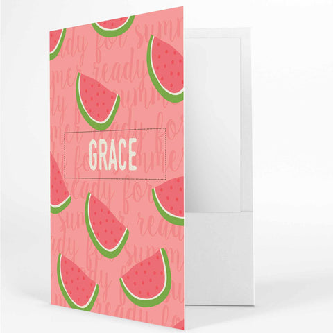 Personalized watermelon folder