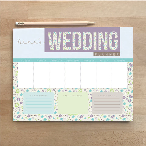 Wedding Weekly Planner