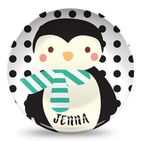 "Winter Penguin 10"" Plate"