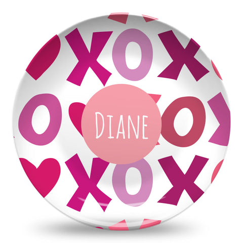 xoxo Valentines day personalized plate