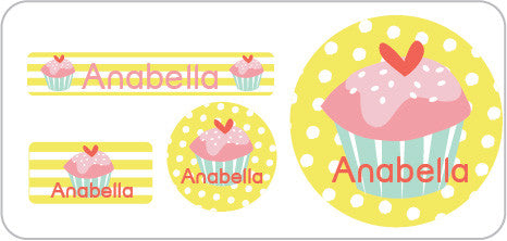 Yellow Cupcake Everyday Labels