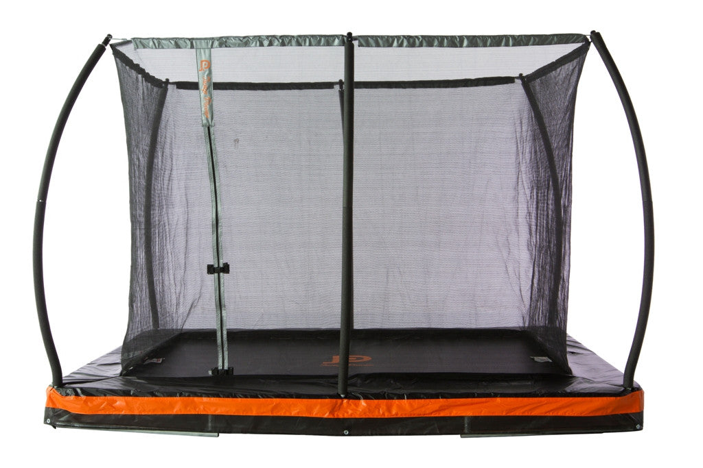 Inground 9ft. x 6.5ft.  Rectangular Trampoline & Safety Enclosure