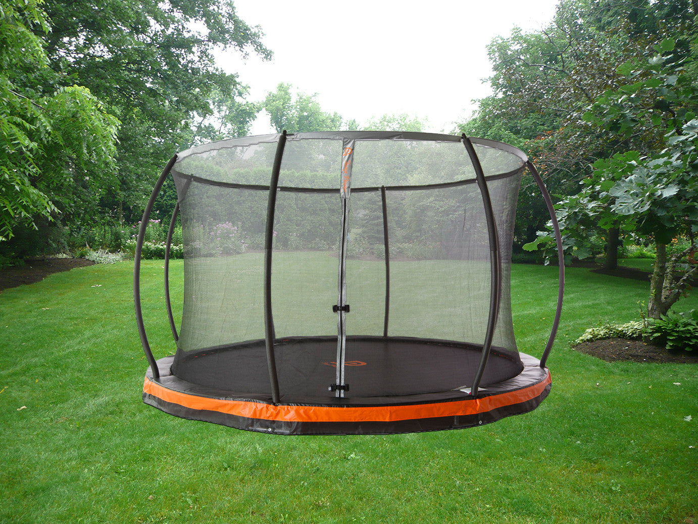 14ft in ground trampoline patented safety net combo trampoline part store. Black Bedroom Furniture Sets. Home Design Ideas