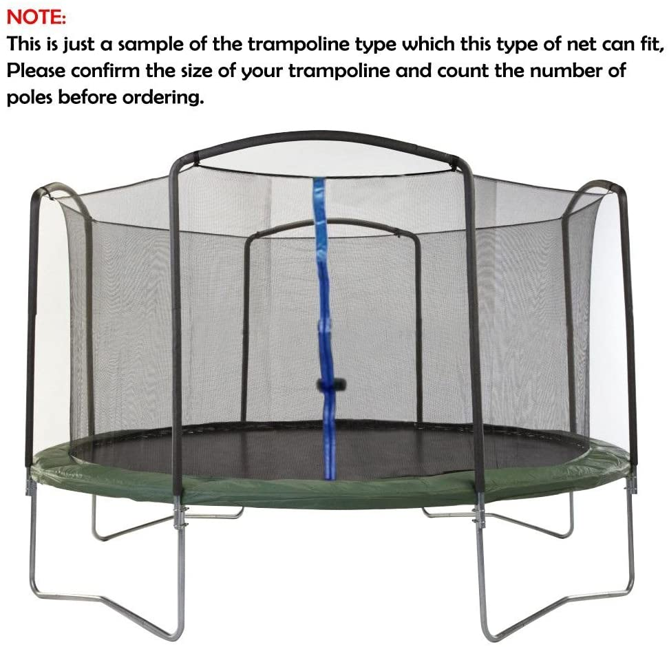14' Replacement Trampoline Safety Net, Fits 3-Arch or 6-Poles
