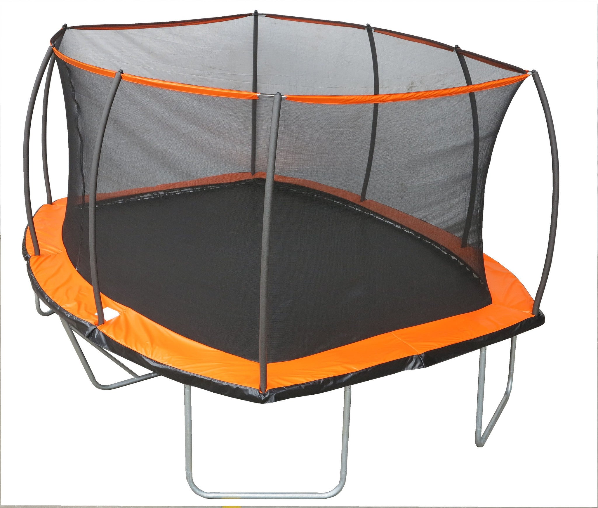 15ft. x 10ft. Rectangular Trampoline & Patented Safety Net Combo
