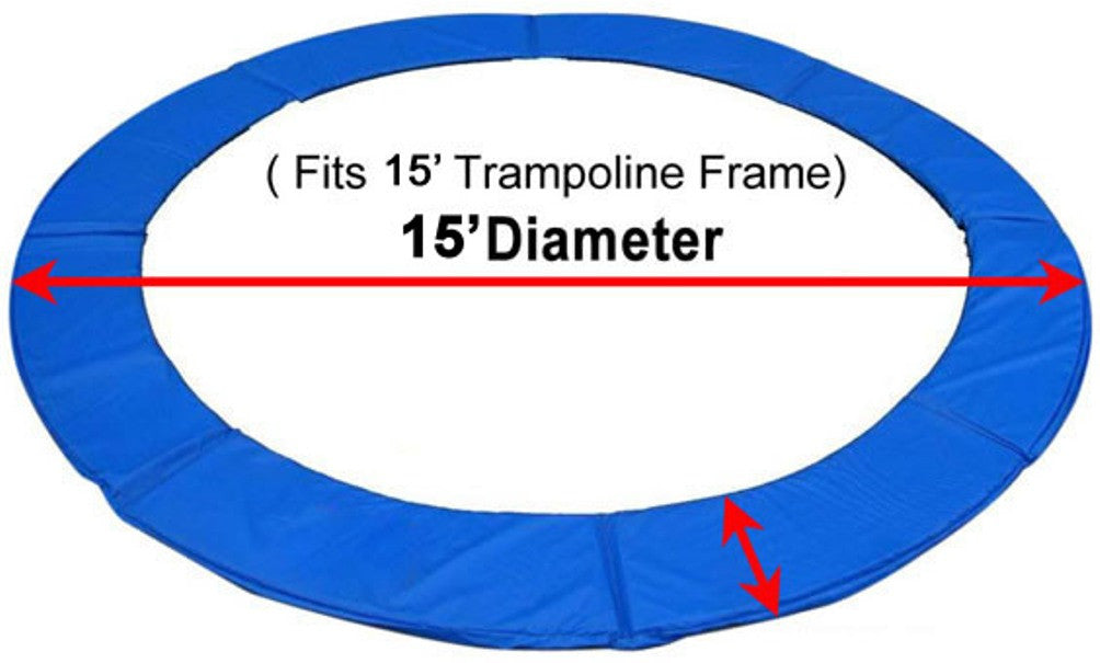 15' Trampoline Replacement Spring Safety Pad *ASTM Safety Approved*