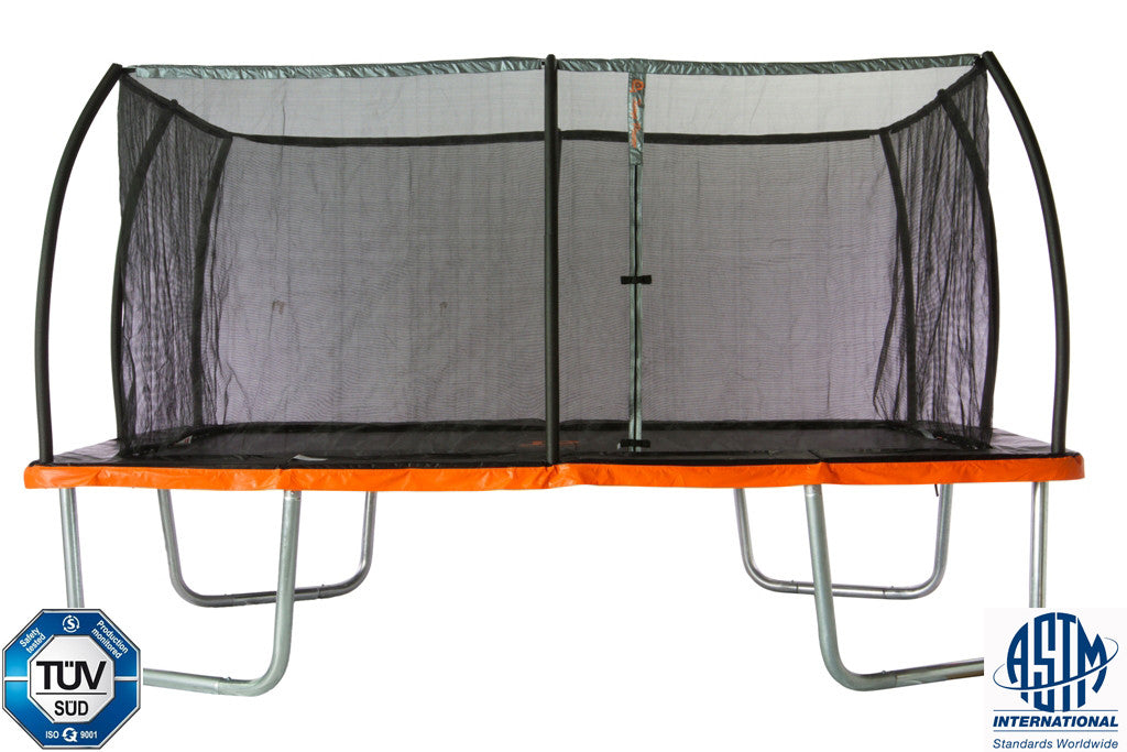 10ft. x 7.5ft. Rectangular Trampoline & Safety Enclosure