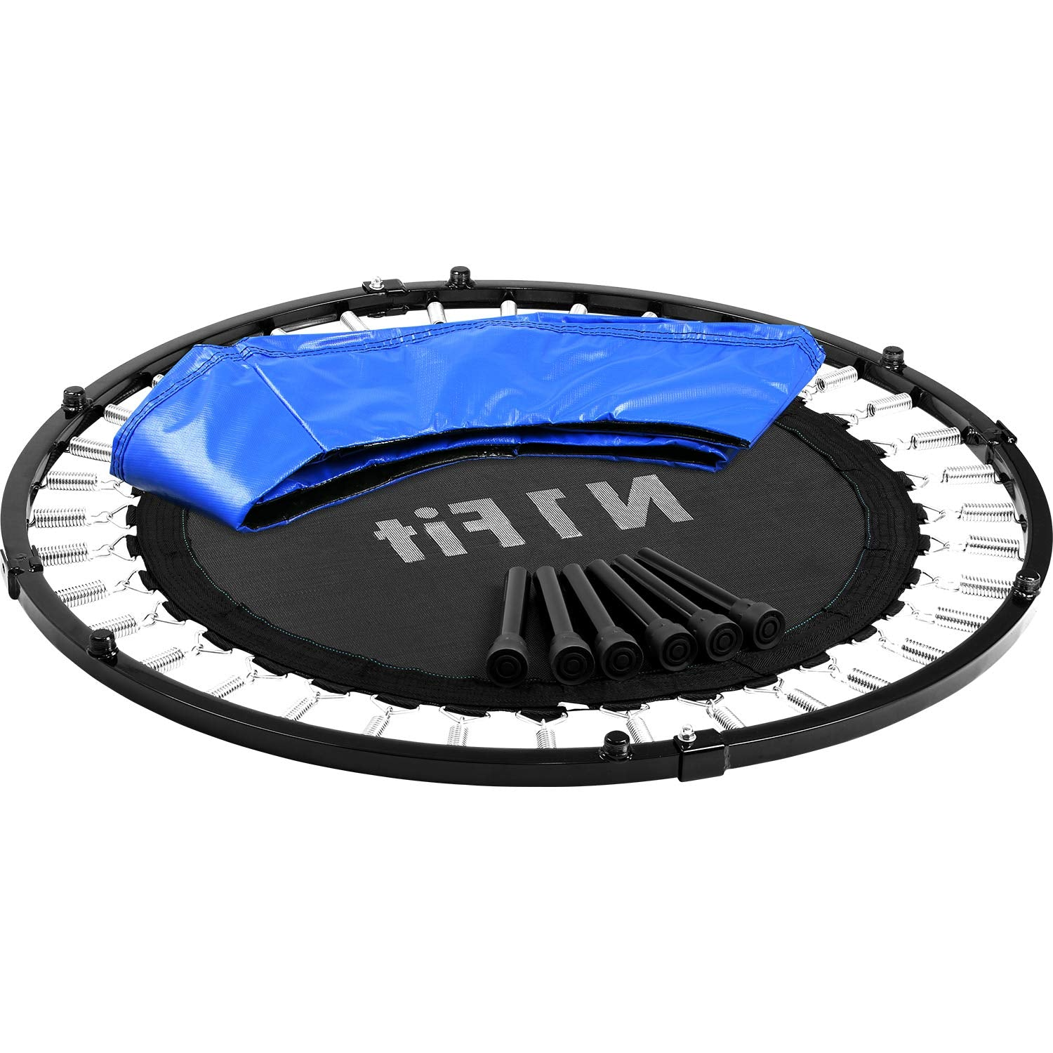 "40"" Spring Foldable Fitness Trampoline for Adults & Kids - Quiet and Safe Bounce - ASTM Safety Approved"