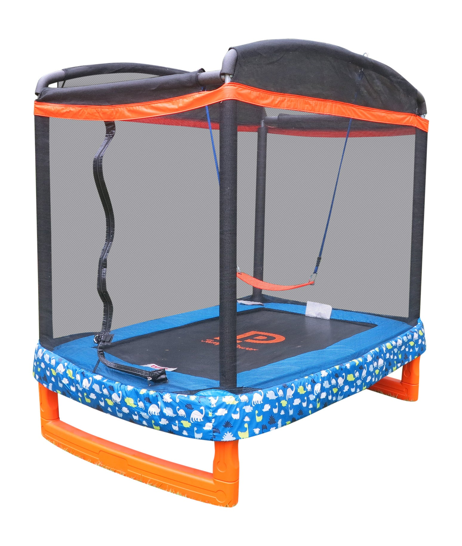 "72"" x 50"" Indoor/Outdoor Trampoline Combo with Swing ""ASTM Safety Approved"""