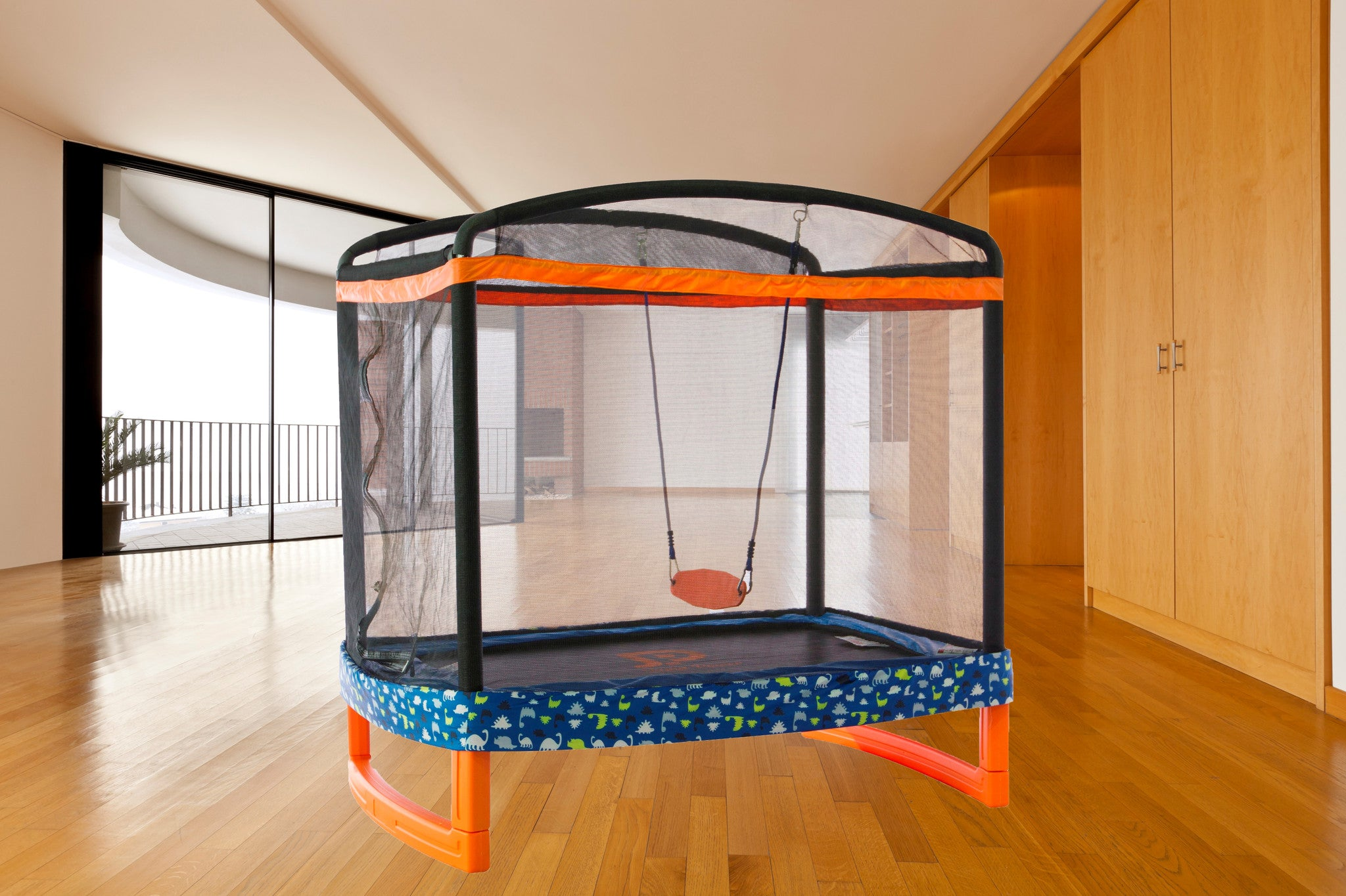 "72"" x 50"" Rectangular Indoor/Outdoor Trampoline Combo"