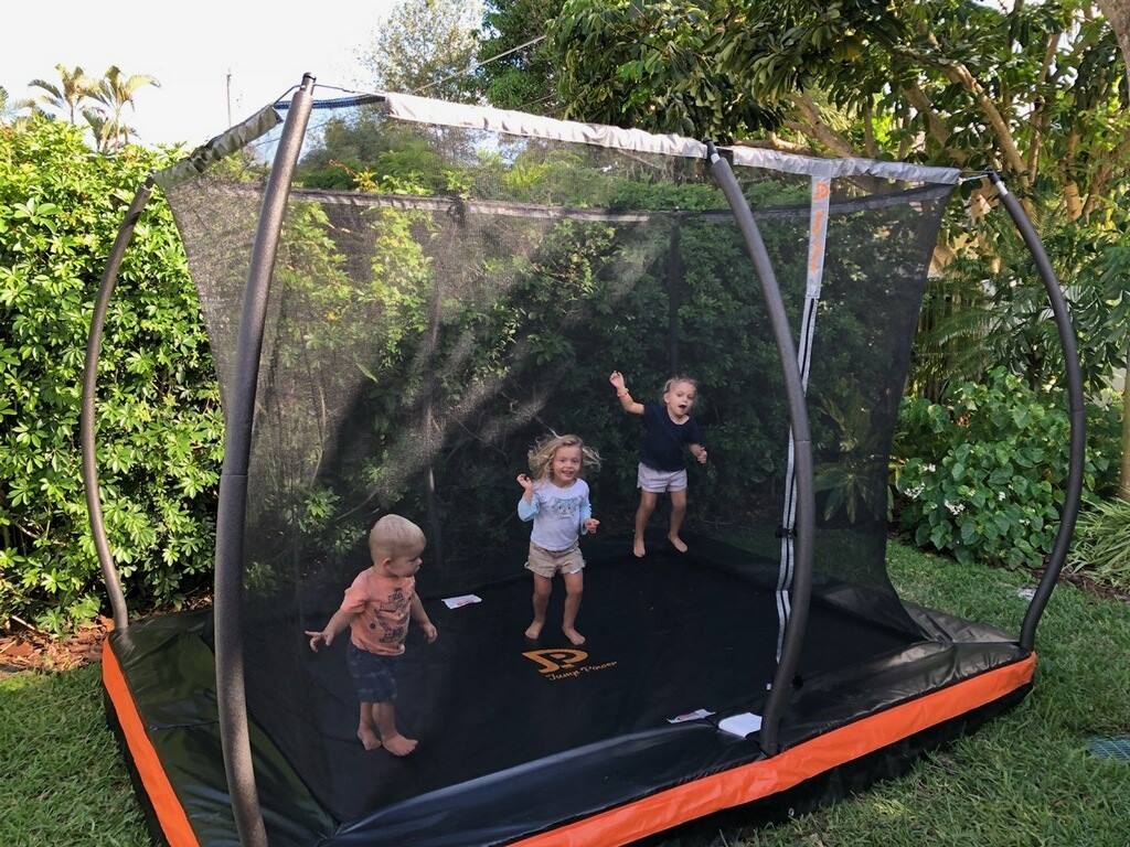 10ft X 7 5ft In Ground Rectangular Trampoline Amp Net Combo