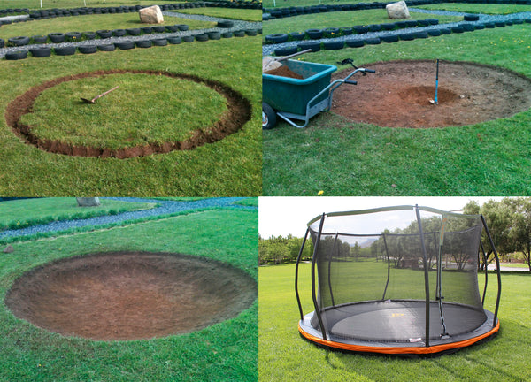 13ft in ground trampoline safety net combo european design trampoline part store. Black Bedroom Furniture Sets. Home Design Ideas