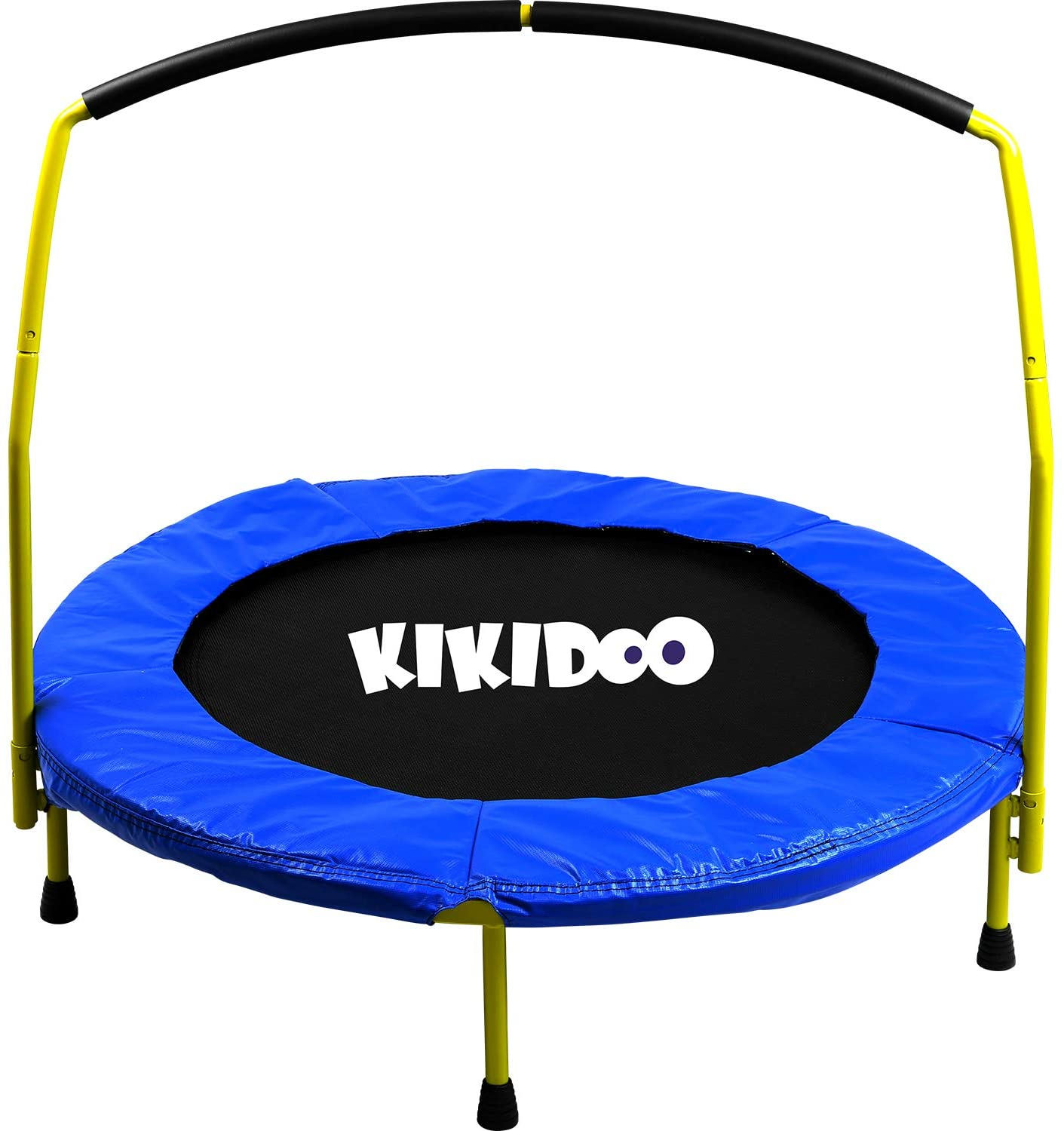 Toddler 3' Trampoline With Handlebar- - KIKIDOO