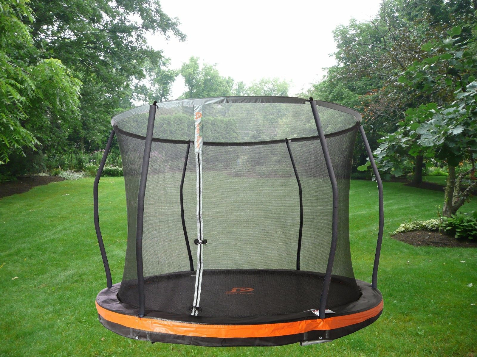 "13ft. In-ground Trampoline & Safety Net Combo *European Design* ""ASTM Safety Approved"""