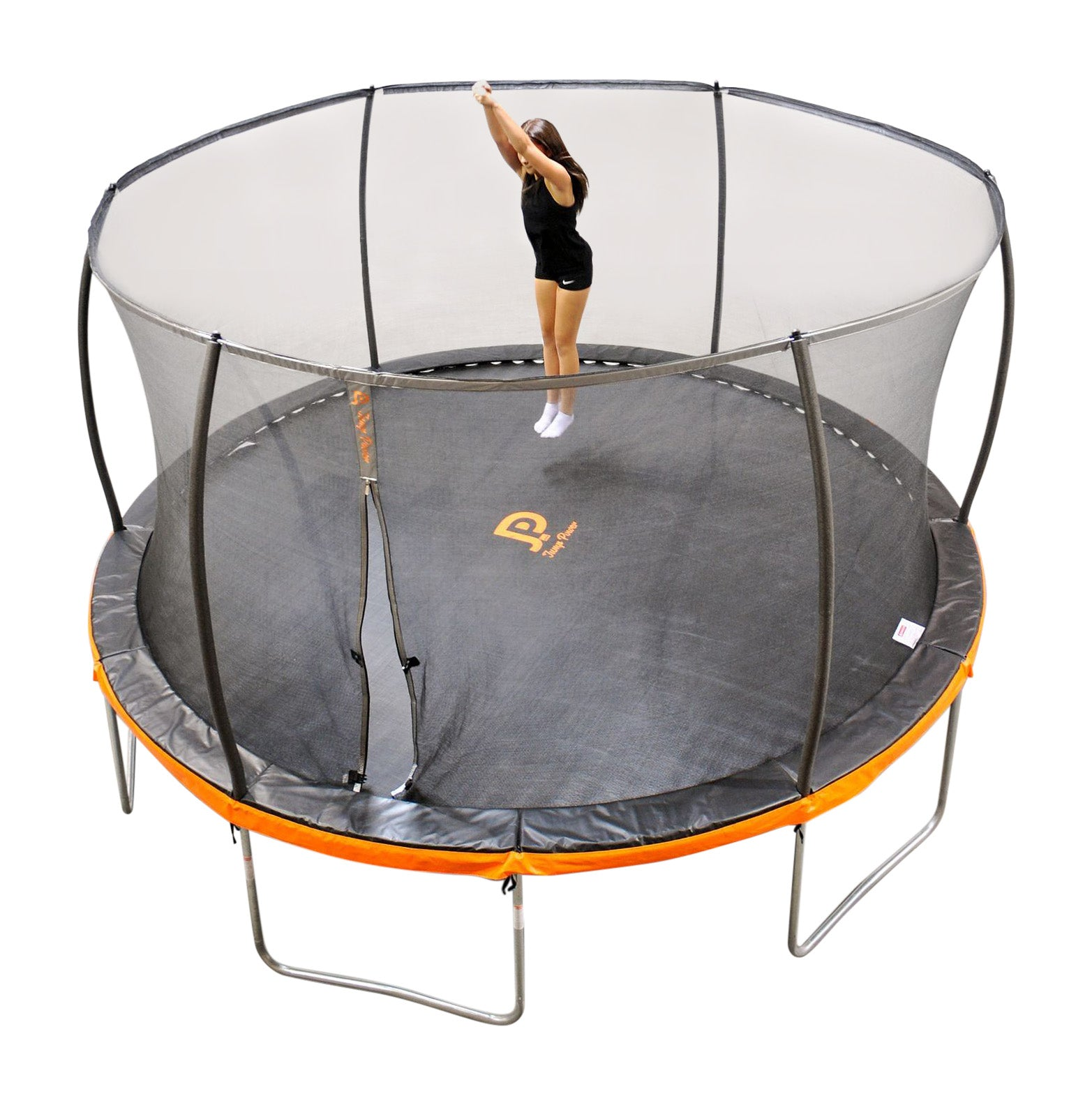 Jump Power 12-Foot Round Modern Trampoline & Safety Net Enclosure Combo