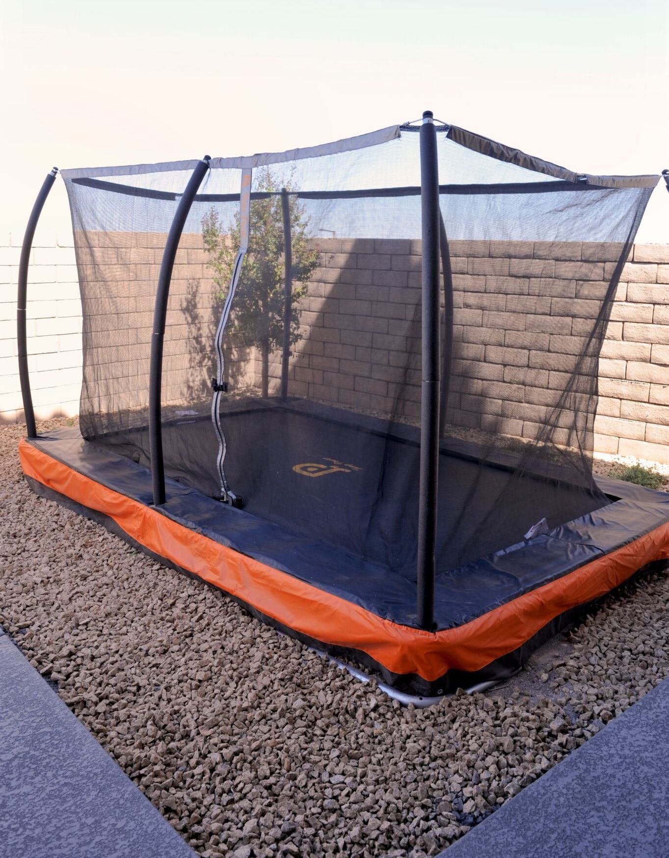 15ft. x 10ft. In-ground Rectangular Trampoline & Safety Enclosure