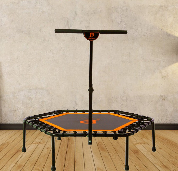 "44"" Hexagon-Ultra Bungee- Fitness Trampoline w/T-bar & Safety Pad"
