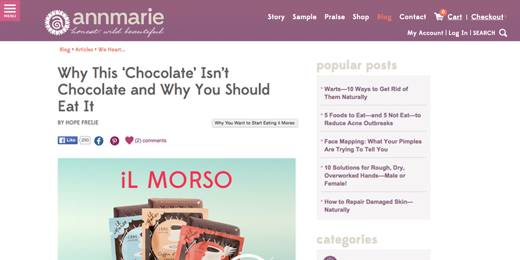 Ann Marie Gianni We Heart il Morso article screen shot