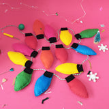 'Retro Rainbow Fairy Light' Garland Craft Kit