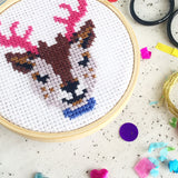 'Reindeer' Mini Craftmas Cross Stitch Kit