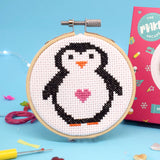 'Penelope Penguin' Mini Cross Stitch Kit