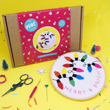 MERRY AND BRIGHT DELUXE EMBROIDERY KIT