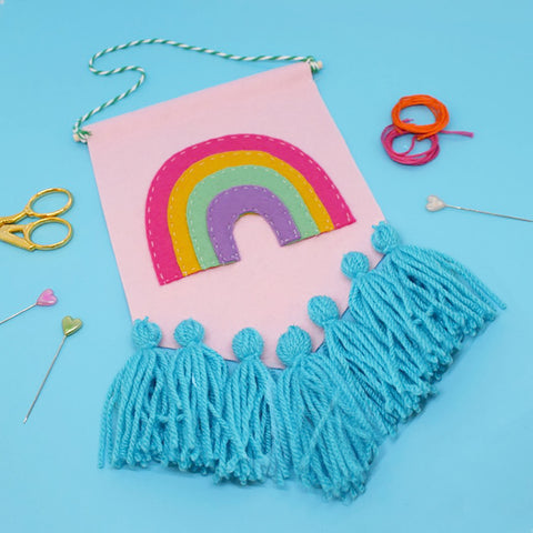 Rainbow Tassel Banner DIY KIT