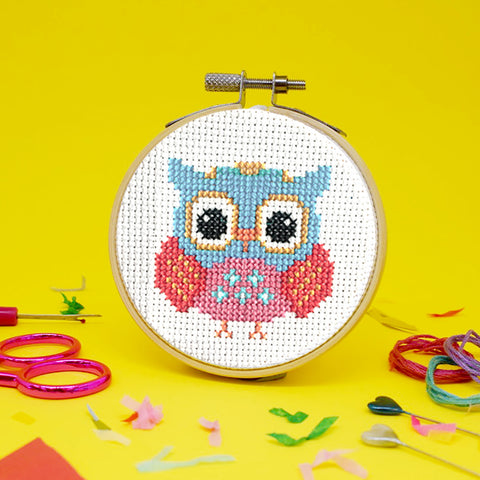 'Owl' Mini Cross Stitch Kit
