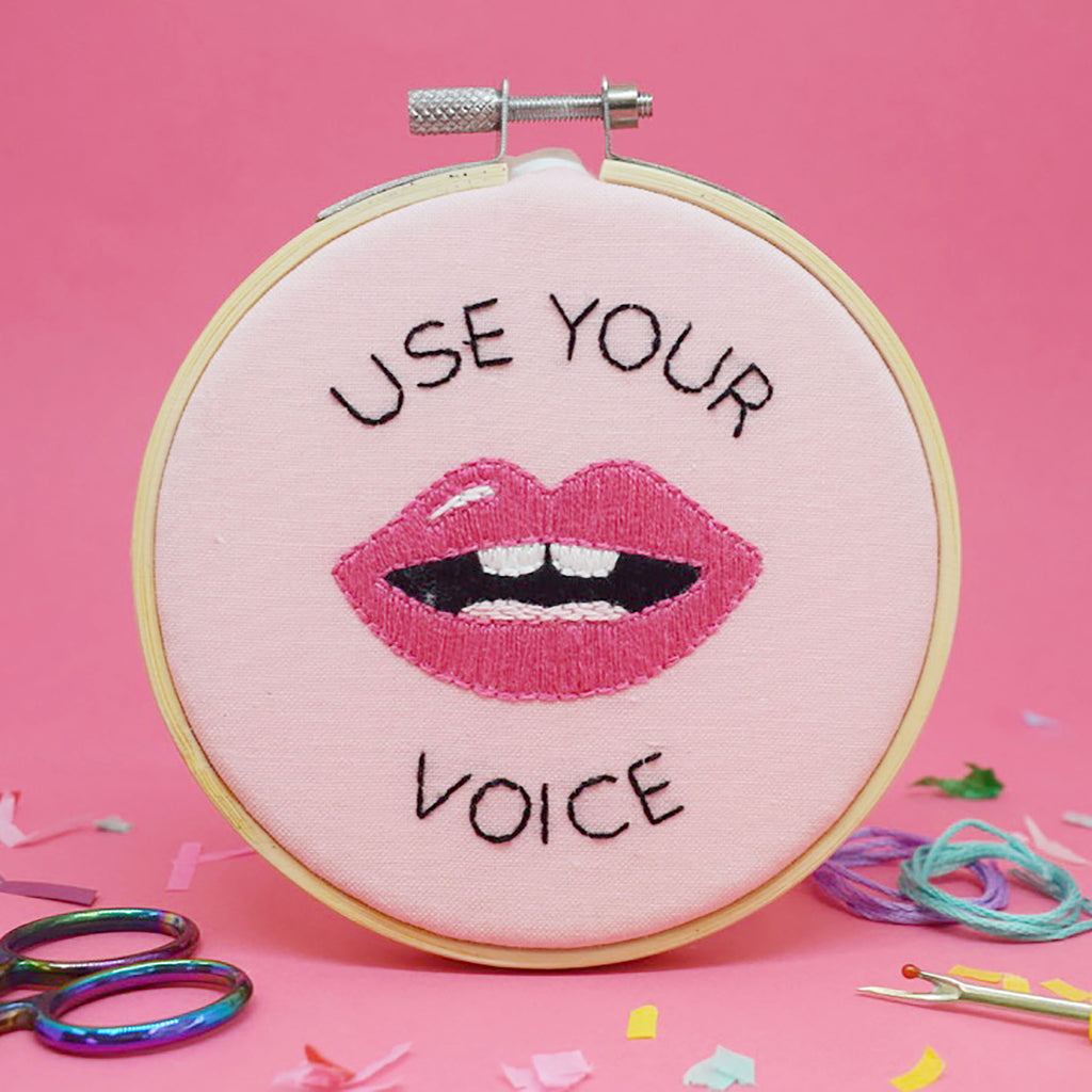 'Use your Voice' Mini Embroidery Kit