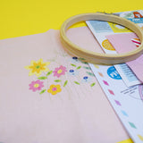 Meadow Flower Embroidery Kit