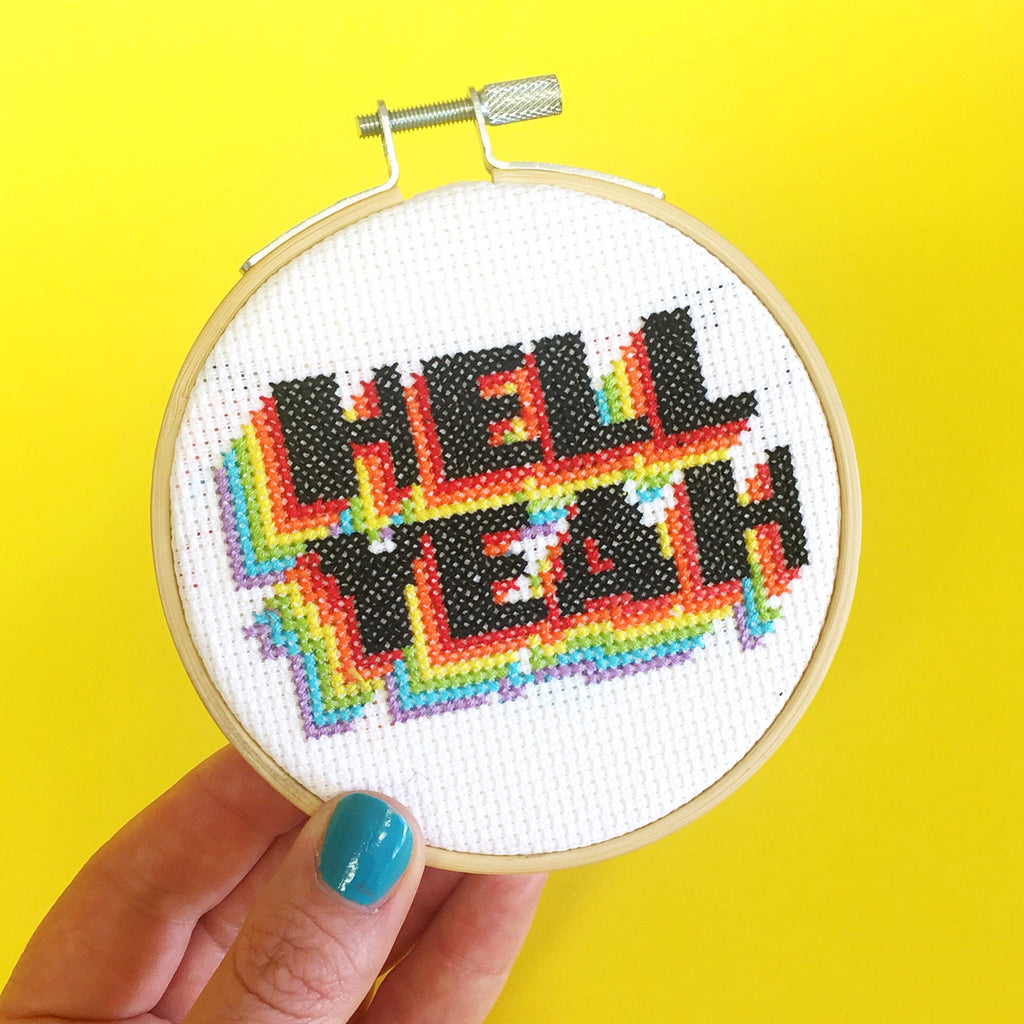 'Hell Yeah' Cross Stitch Kit