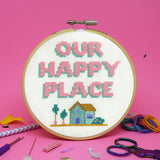 'OUR HAPPY PLACE' CROSS STITCH KIT