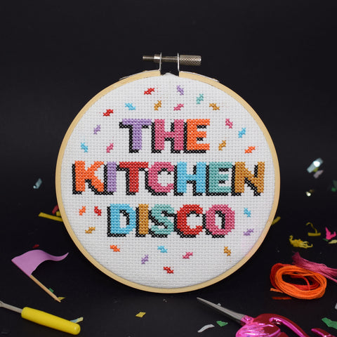 'THE KITCHEN DISCO' CROSS STITCH KIT