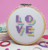 'LOVE' CROSS STITCH KIT