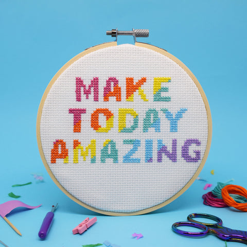 'MAKE TODAY AMAZING' CROSS STITCH KIT