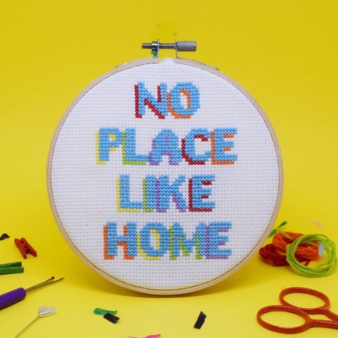 'NO PLACE LIKE HOME' CROSS STITCH KIT